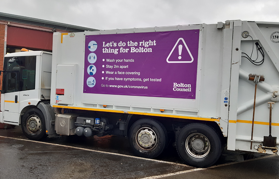 ROADVERT WORKS WITH BOLTON COUNCIL TO DRIVE HOME THE CORONAVIRUS MESSAGE
