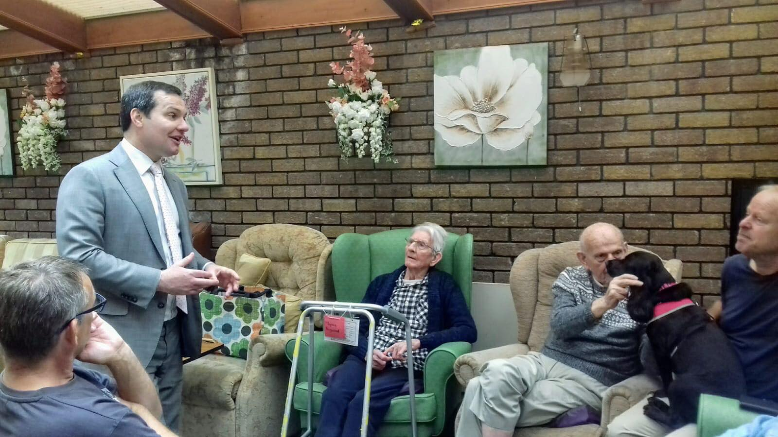 MP visits local Dementia Care Home