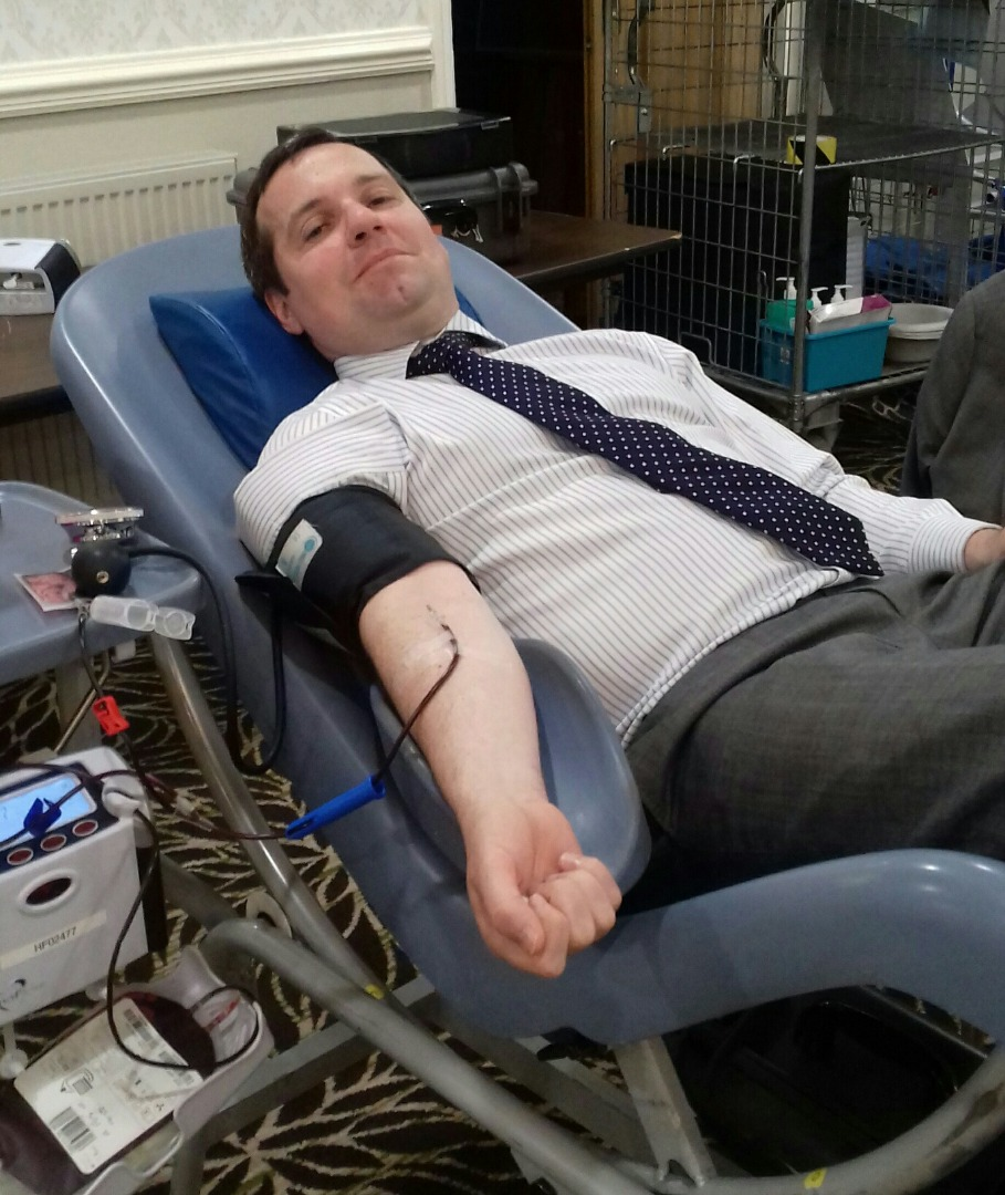 MP gives blood for World Blood Donor Day