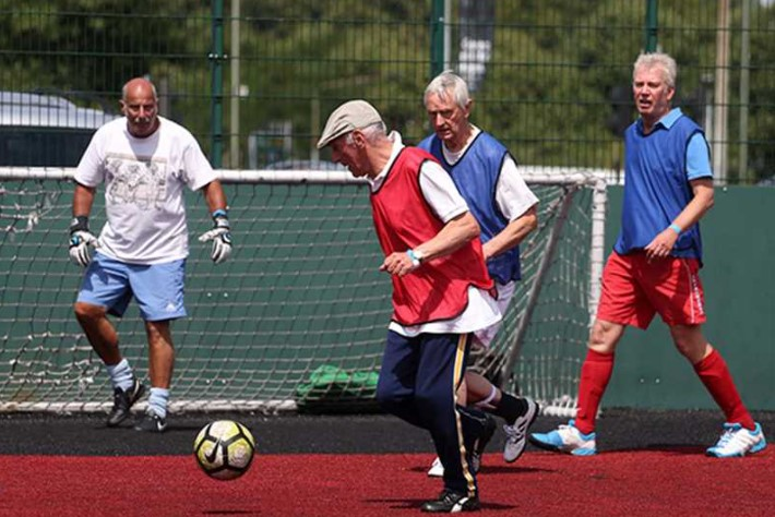 Age UK Bolton kicks off new walking football programme