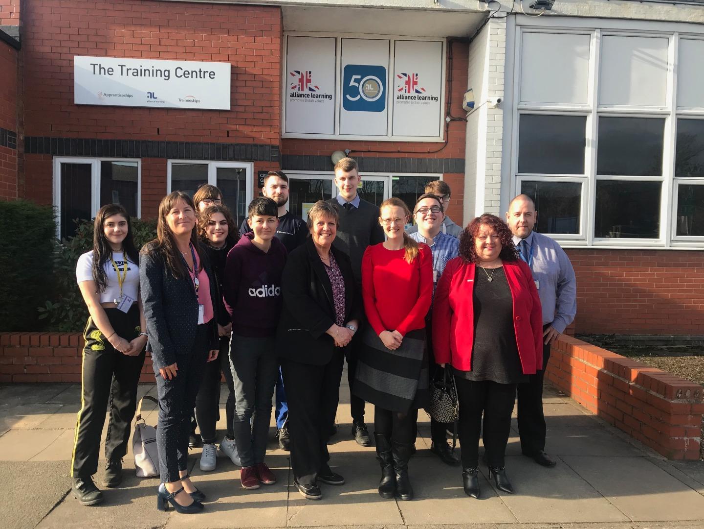 Cat Smith MP visits Bolton apprenticeships training centre