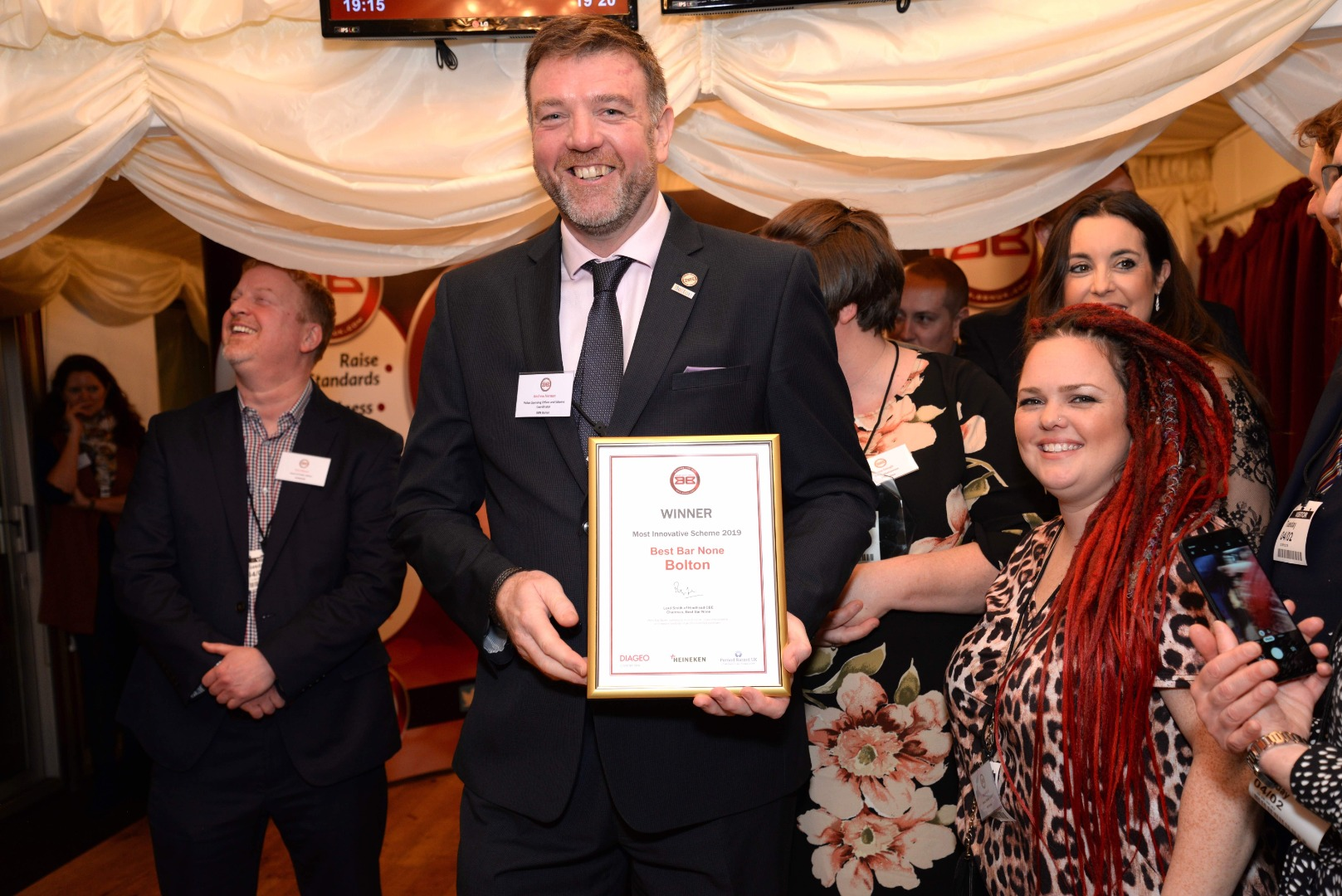 Bolton wins 'Most Innovative Scheme' in National Best Bar None Awards
