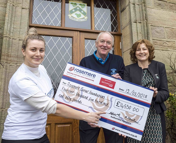 Chorley Golf Club raises £14,550 for Rosemere Cancer Foundation