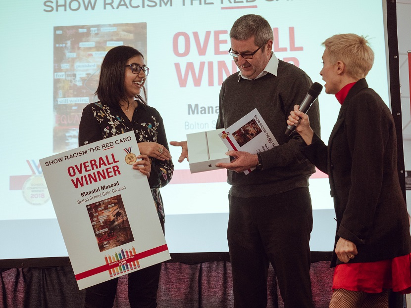Bolton School pupil wins Show Racism the Red Card competition
