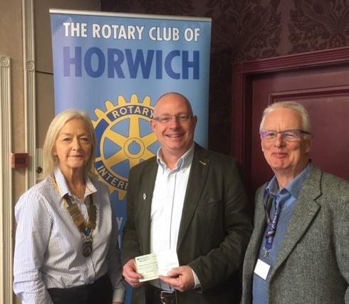 Speaker at Horwich Rotary