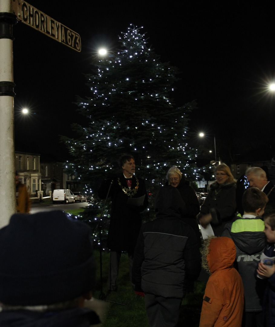 PICTURED: Annual Horwich Christmas Lights Switch On