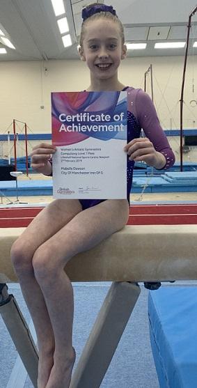 Mabelle's double gymnastics success