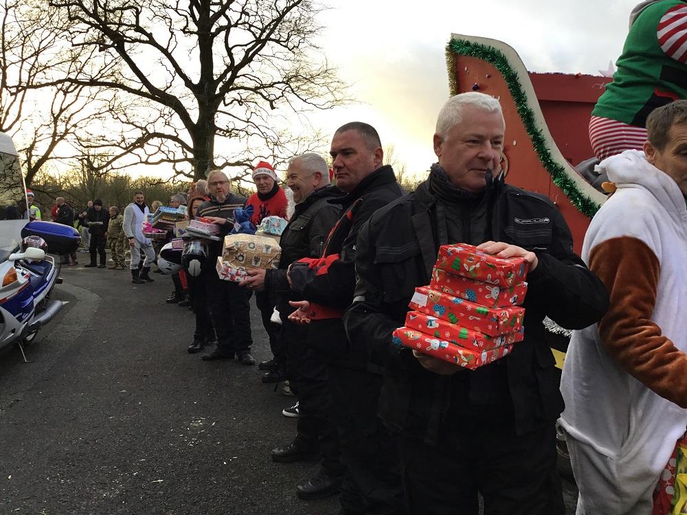 Santa bikers bring festive joy to children's hospice