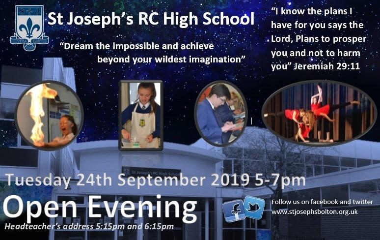 Open evening at St Joseph's RC High School