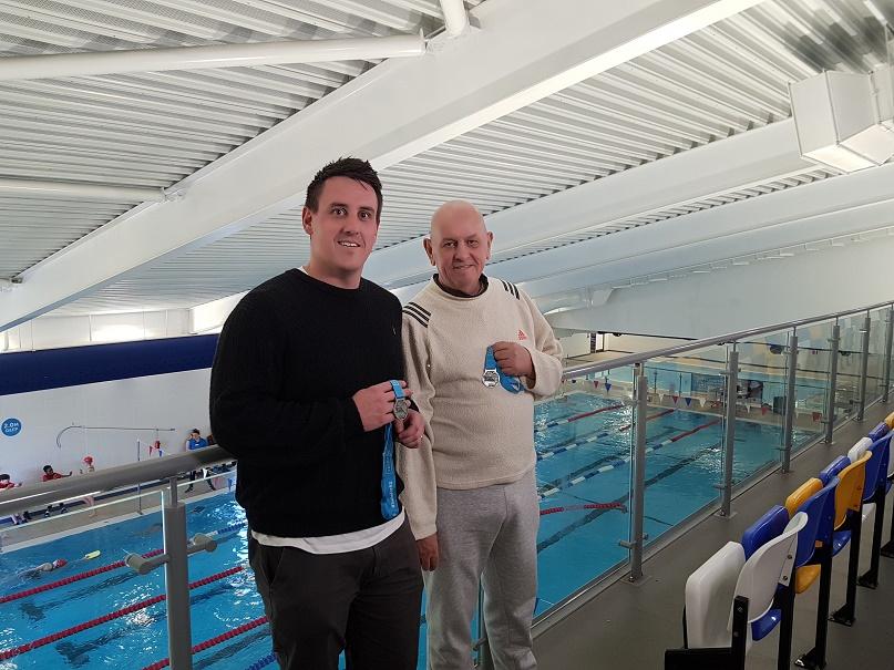 Horwich pool pair in Swimathon charity success