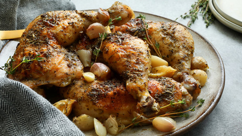 Roasted Chicken and Shallots