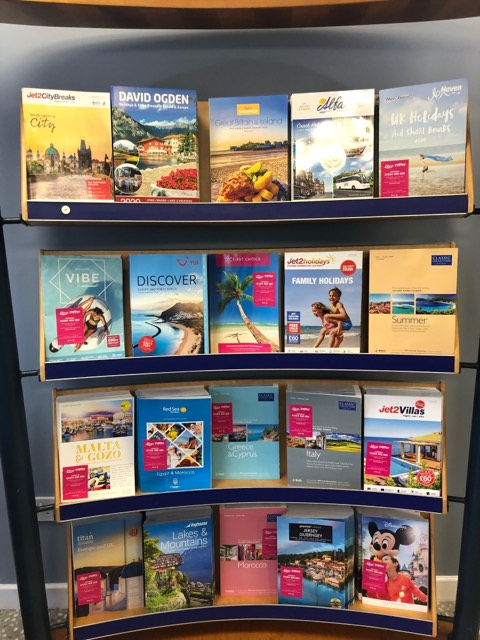 Hays Travel Horwich offers magazines for local businesses to provide