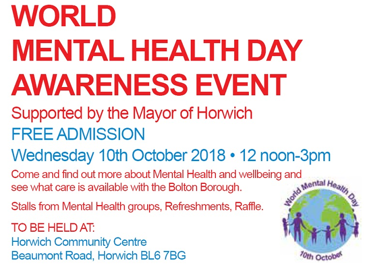 Horwich Mayor backs World Mental Health Day event