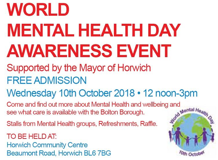 Horwich Mayor backs World Mental Health Day event
