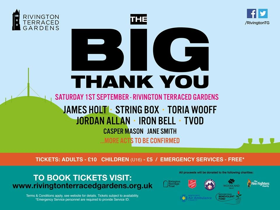Rivington Terraced Gardens gig tickets on sale