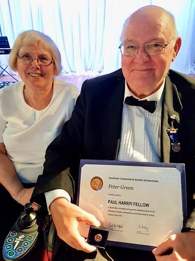 Local Rotarian made a Paul Harris Fellow