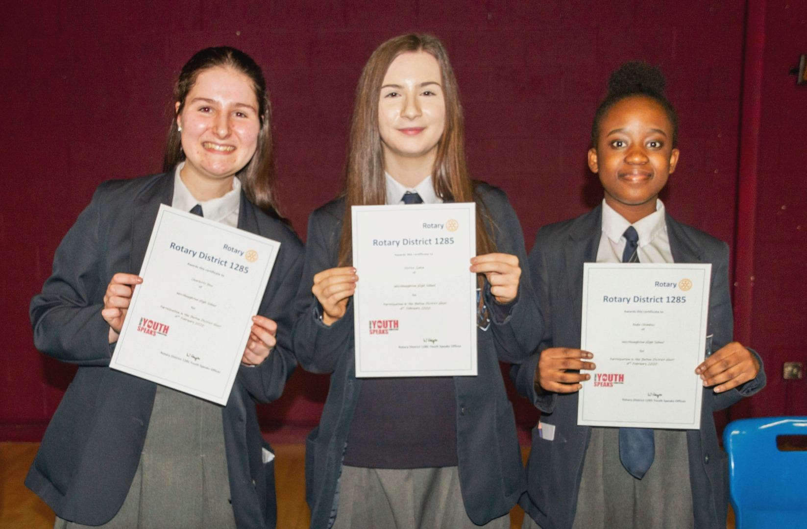 Westhoughton winners in Rotary Youth Speaks