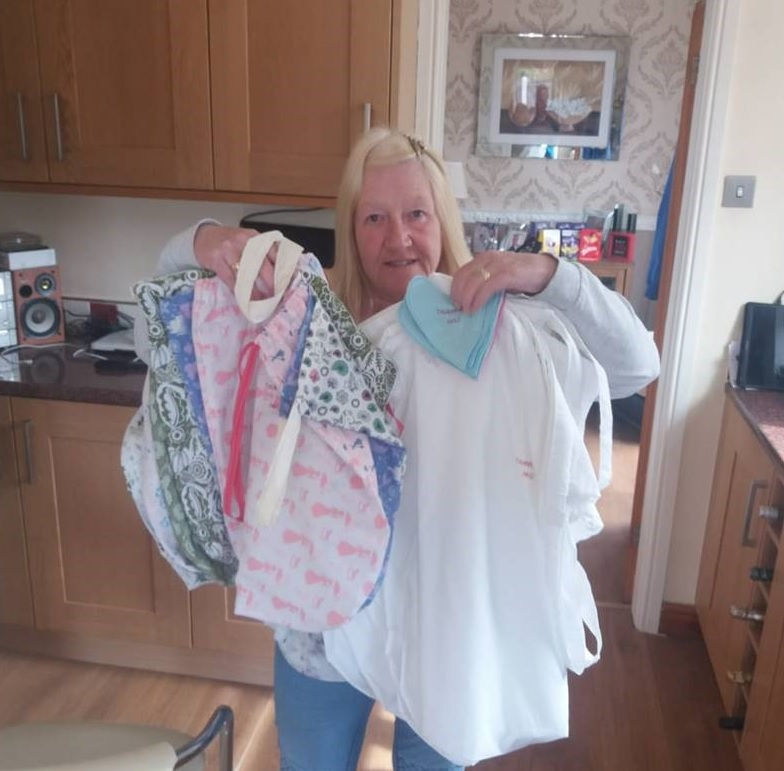 Sewing star has bags of support for NHS