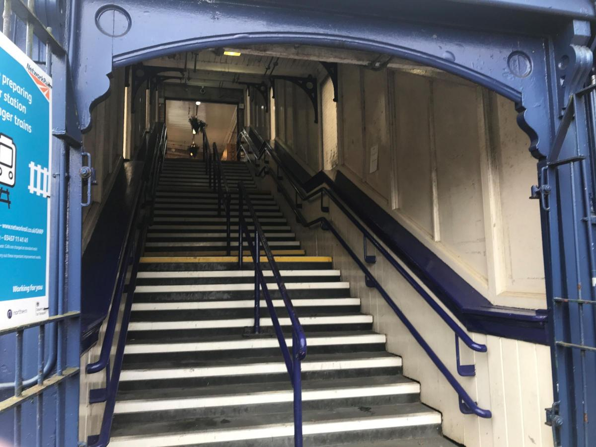 No change to station only accessible by stairs