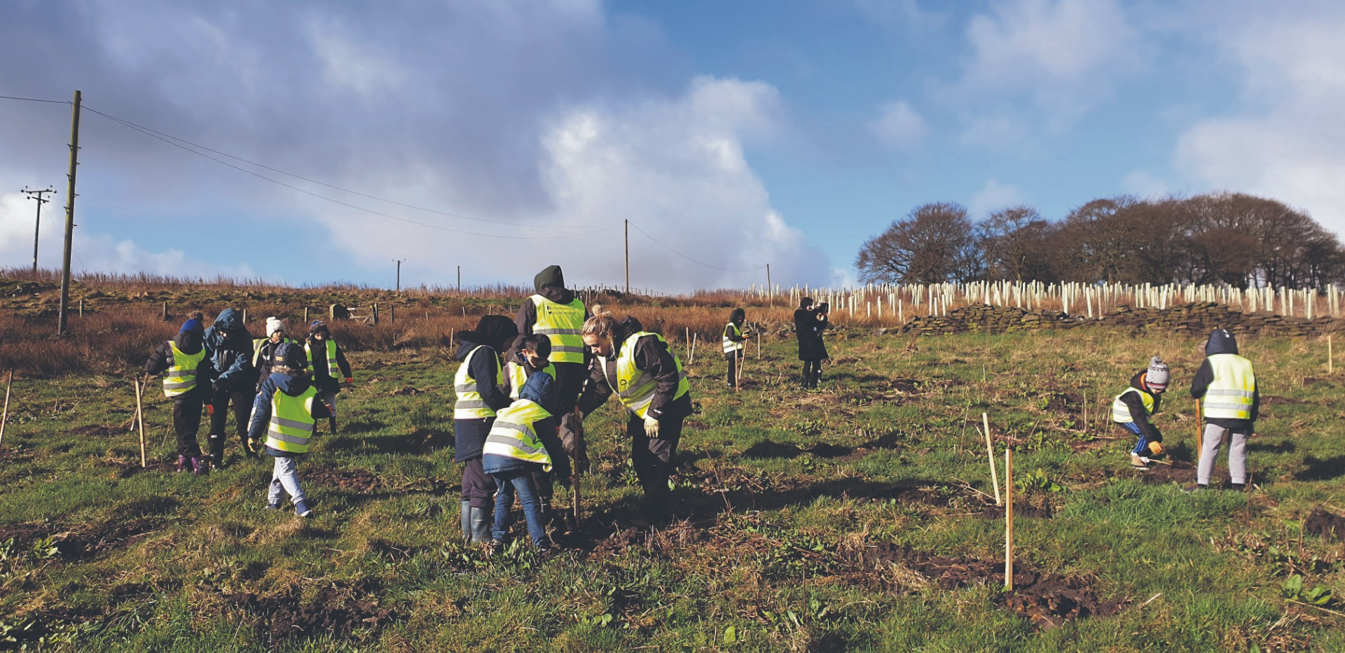Record tree planting at Smithills Estate